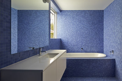 riverview house blue bathroom