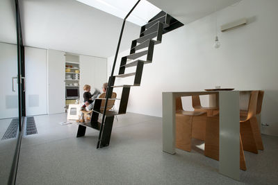 Ljubljana Micro House Staircase and Dining Table