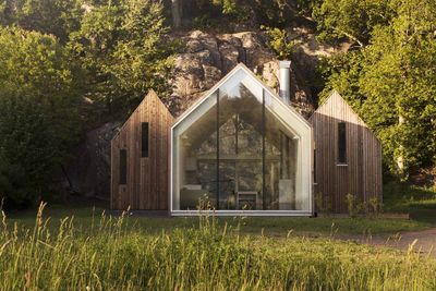micro cluster cabins norway three unit exterior rec