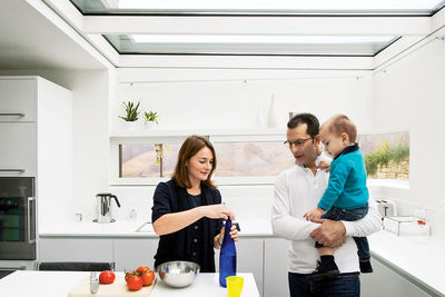 chiavelli residence kitchen family portrait