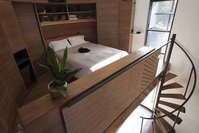 grain silo lofted bedroom rec