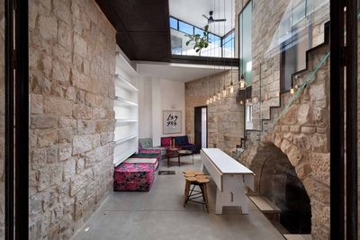 israel stone house courtyard arch rec