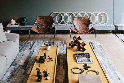 concrete jungle living room