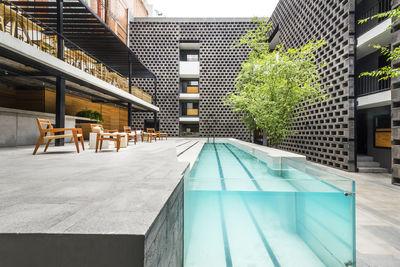 hotel carlota mexico city exterior pool jsa arquitectura