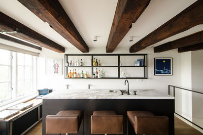 Bar in an Amsterdam loft.