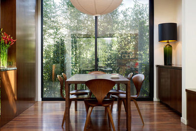 Midcentury dining room with Cherner Chairs
