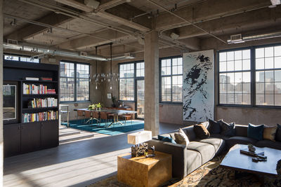 Large open Denver loft with a modern interior