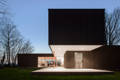 Blackened timber Dutch home