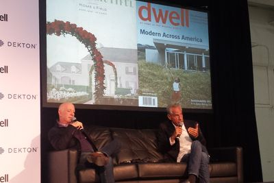 Dwell on Design New York's keynote panel with Paul Goldberger and Eric Owen Moss.