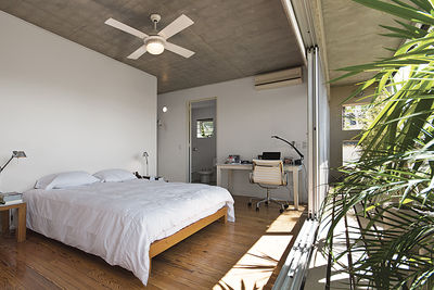 Bedroom and balcony in a Buenos Aires home