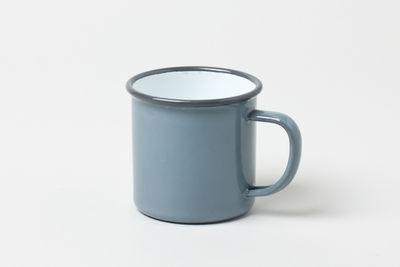 Classic enamelware mug in grey