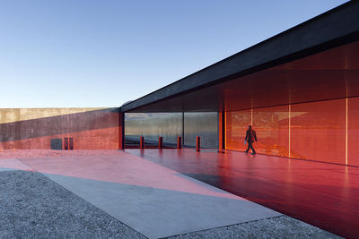 modern architecture design glenorchy sculpture park pavilion glass interior