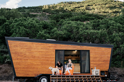 Woody the Trailer cedar exterior