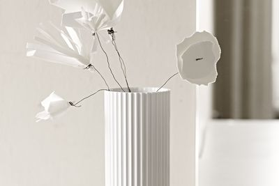 Classic porcelain vase with pleated technique