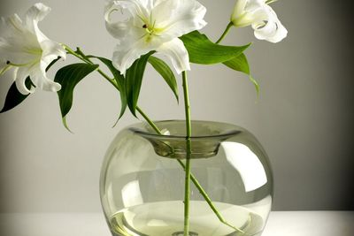 Hand-blown glass spherical vase