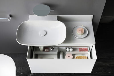 stow away simple bathroom storage solutions ino collection laufen washbasin saphirkeramik vanity