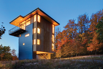 tower of power facade plywood metal siding