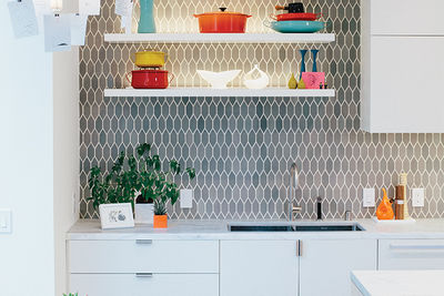 Modern renovation in San Francisco with heath ceramics tiles in the kitchen