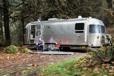 Airstream trailer decked out with smart home technology.