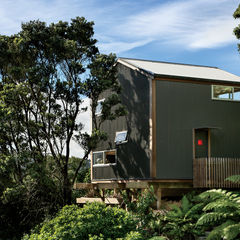up in the air small space new zealand facade corrugated metal cladding