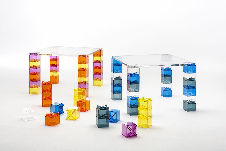 Clip Clap table by Ferruccio Laviani for Kartell