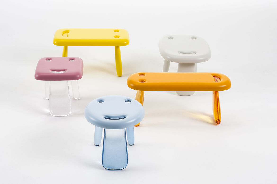 Smile kids' tables by Nendo for Kartell
