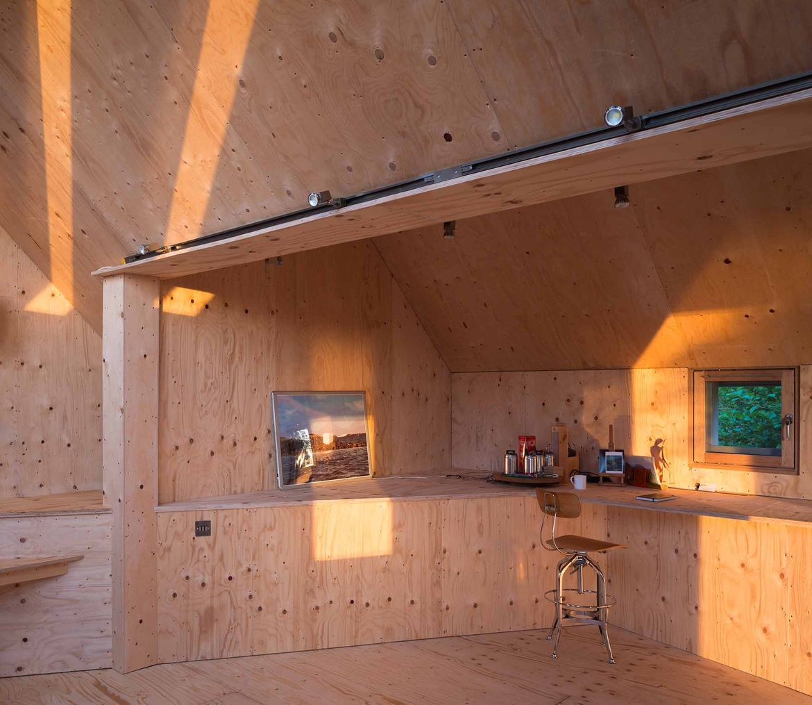 Midden Studio birch plywood interior