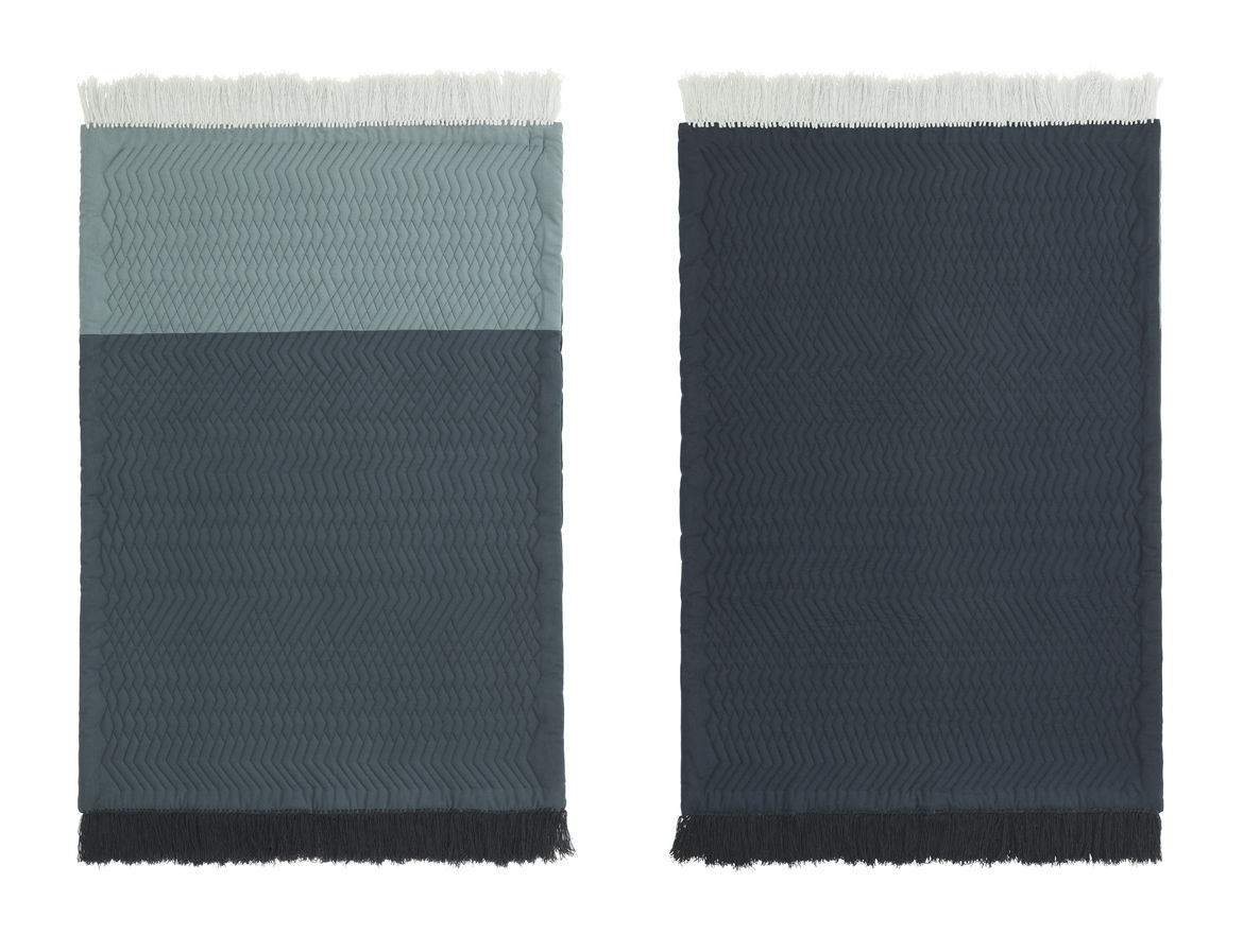 Blush/dark green rug for Normann Copenhagen