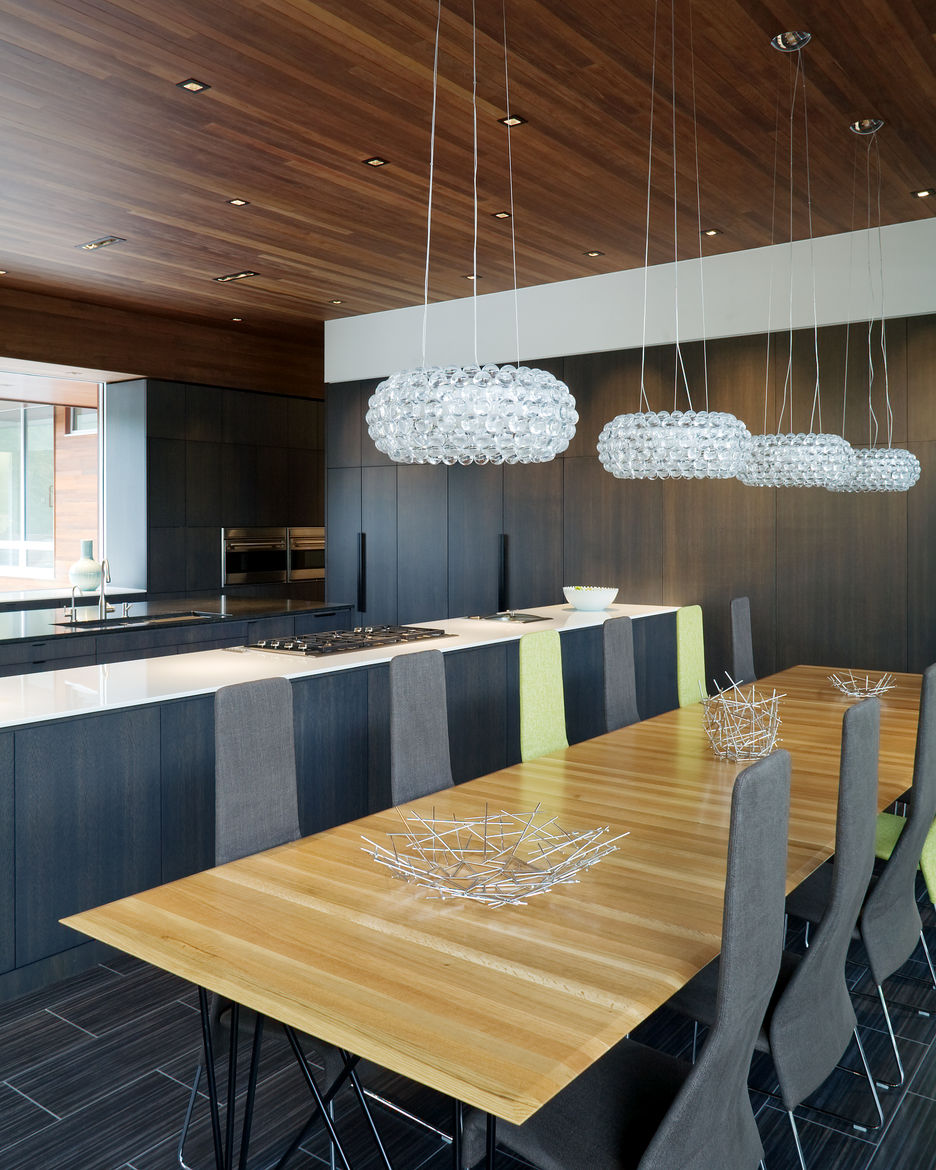 Curved House galley kitchen