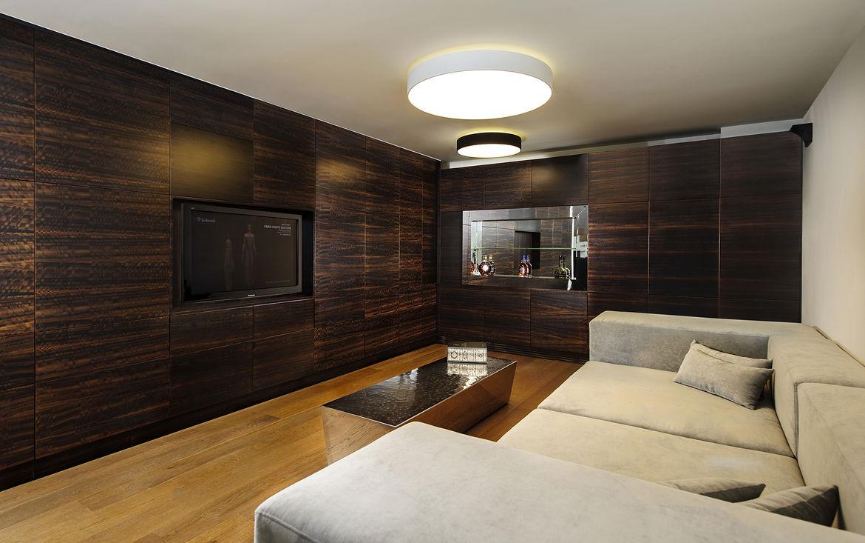 Hidden House basement media room
