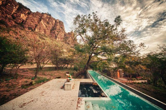 Meztitla house solar-heated lap pool