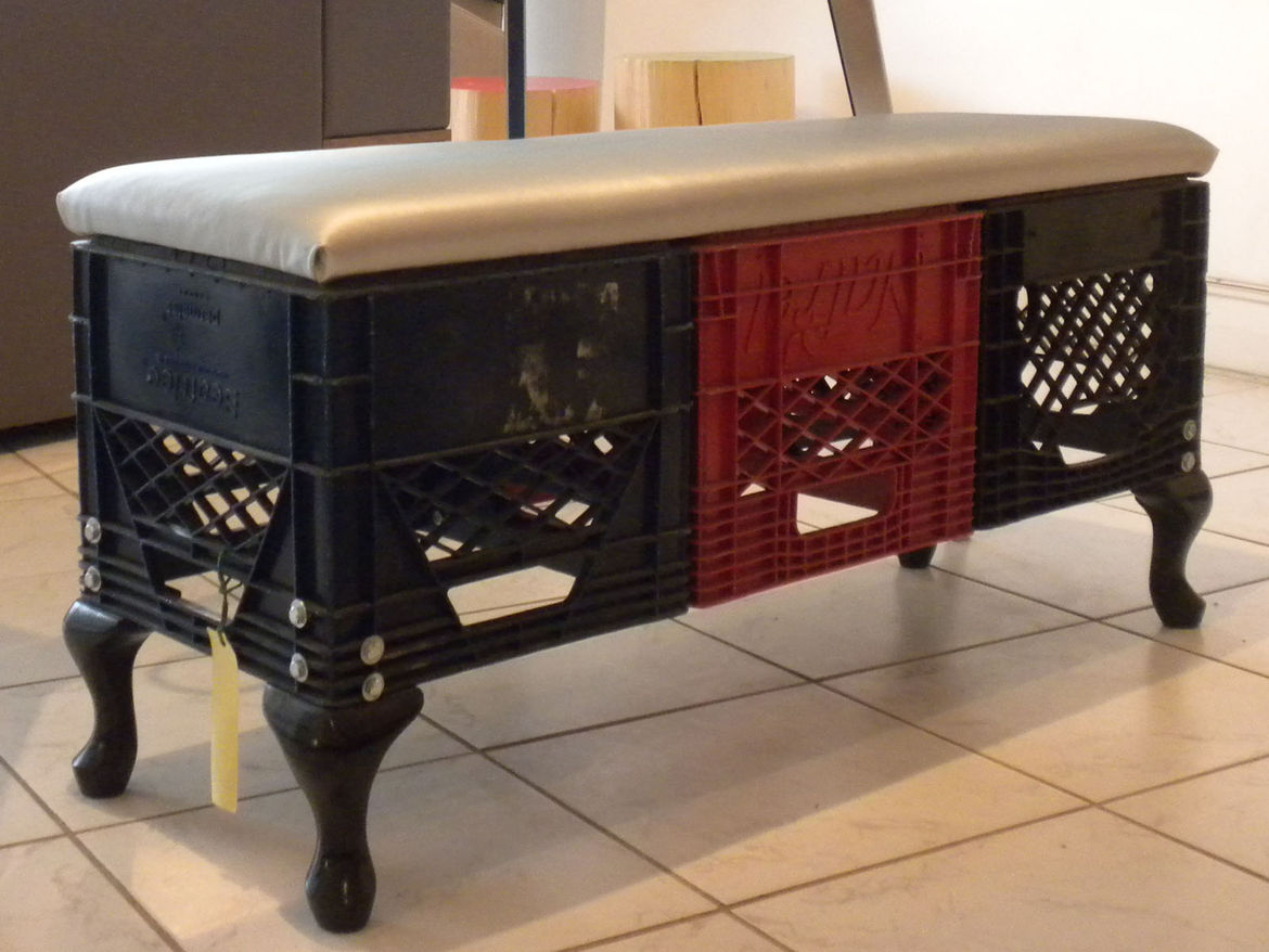 In addition to selling other Canadian designers' works, Made also offers custom design services and produces its own pieces, such as this Hybrid Bench.