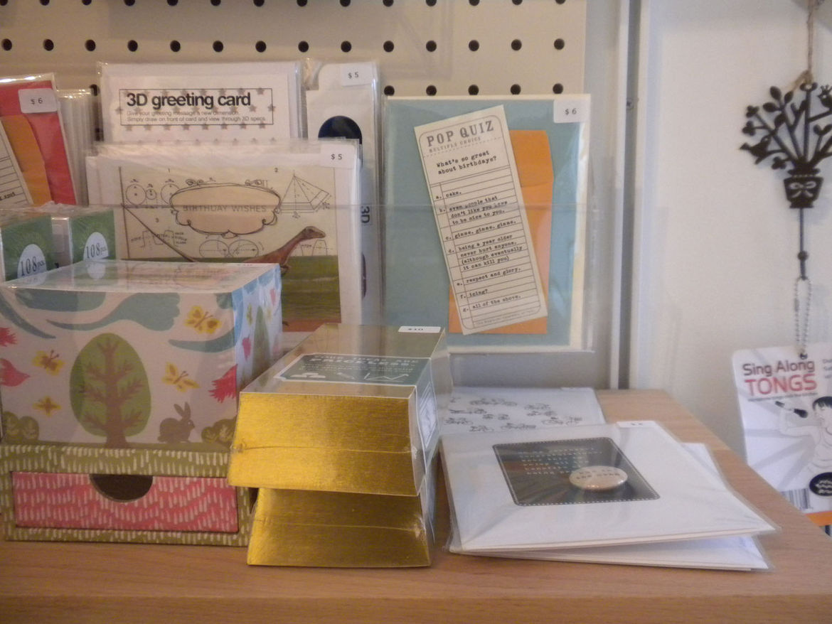 """Magic Pony also sells a big selection of stationery, like <a href=""""http://www.dwell.com/organizations/the-regional-assembly-of-text.html?tab=about&c=y"""">Regional Assembly of Text</a>'s Quiz cards and Chronicle Book's <a href=""""http://www.dwell.com/products/"""