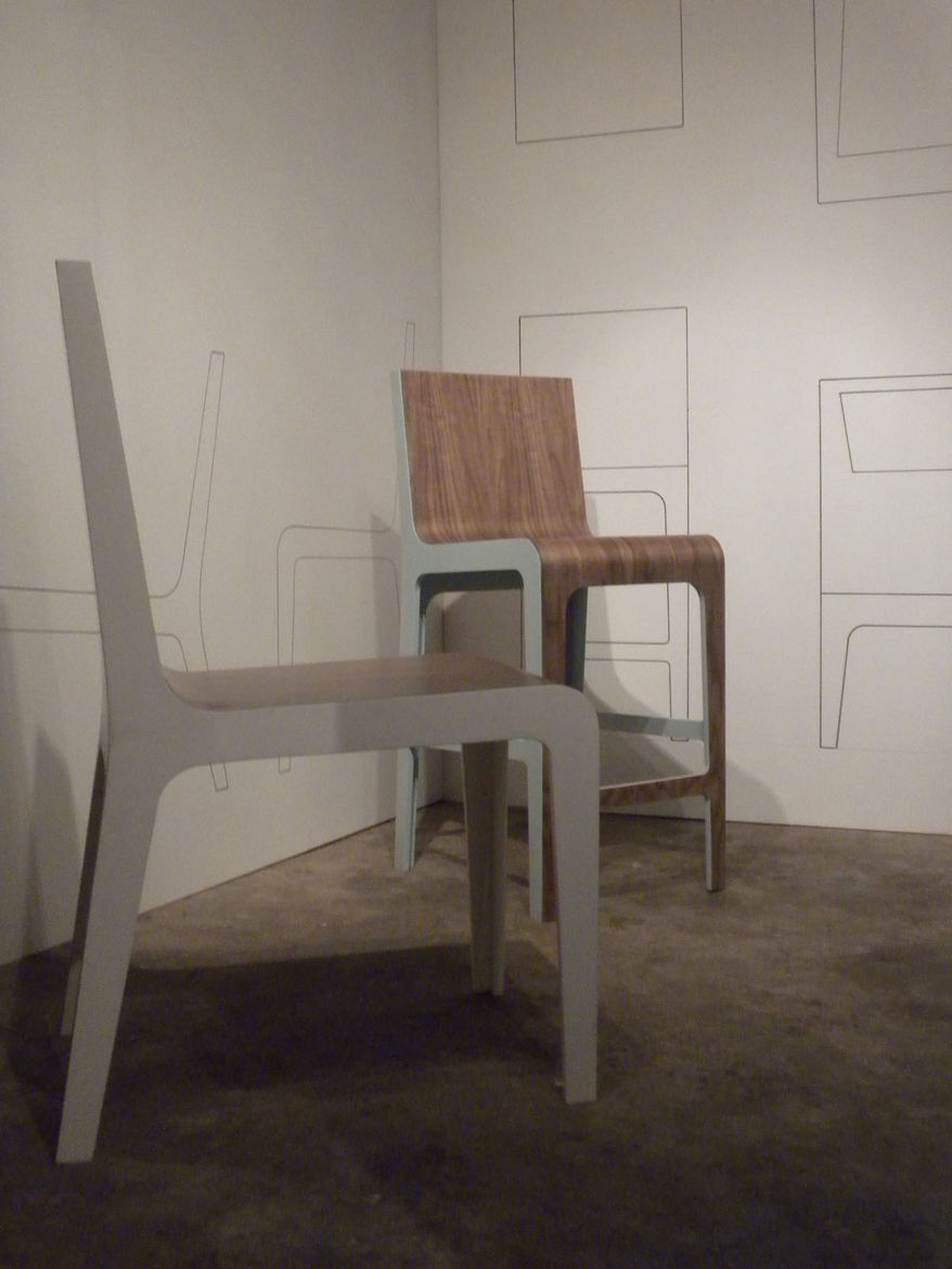 An area in the back of the shop houses exhibitions, which change about every six to eight weeks. On display during my visit was <i>Variations on a Chair: An Installation by Connie Chisholm</i>.