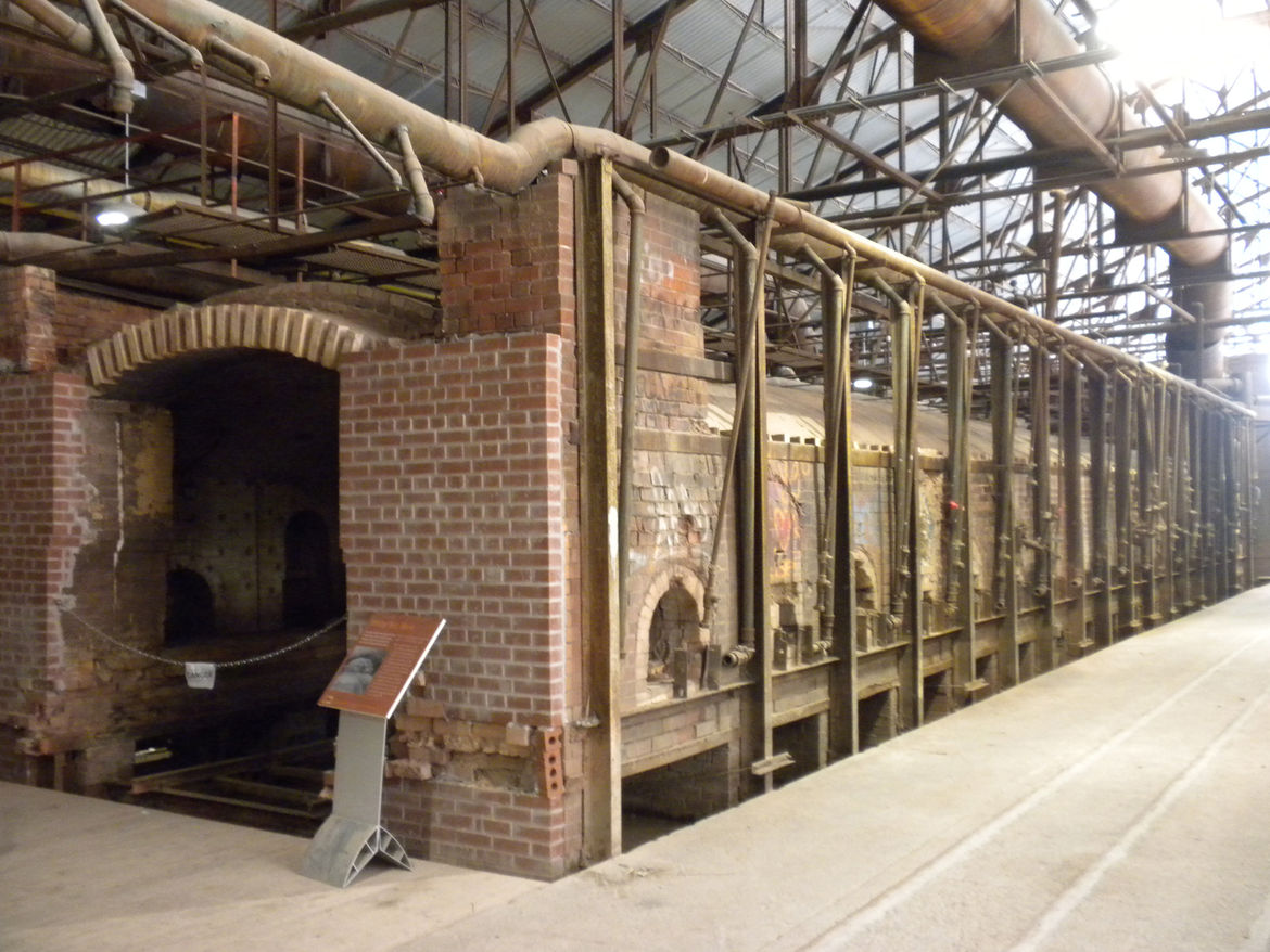 The 52,000-square-foot building is where the majority of the action took place when the yard was churning out bricks. Inside lie three former tunnel kilns and six single-track drying tunnels.