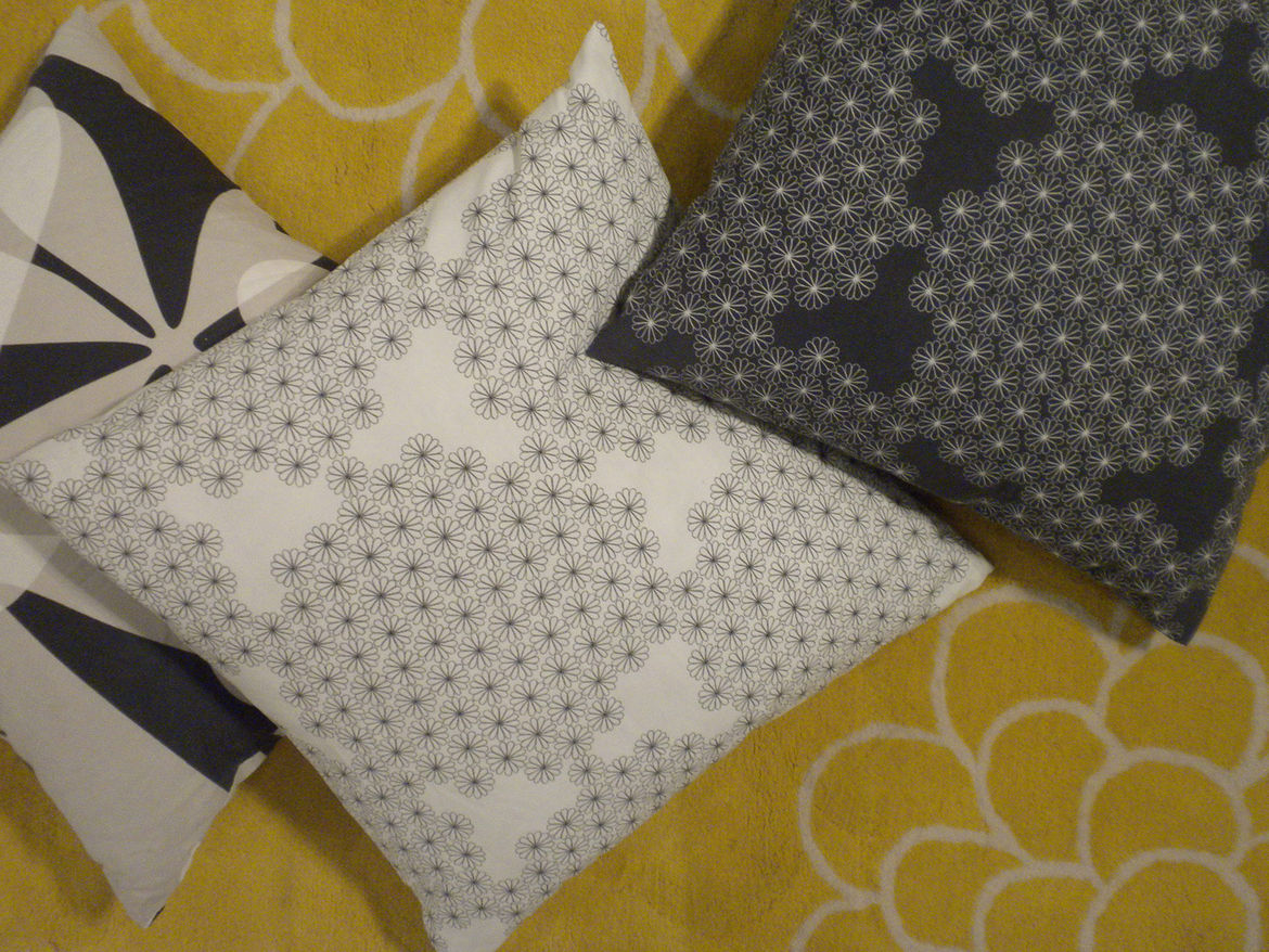 """<a href=""""http://www.piaamsell.se/"""">Pia Amsell</a> and <a href=""""http://barbrowesslander.se/"""">Barbro Wesslander</a> work together in Stockholm and have collaborated with Ikea for years, producing items such as these pillows. Their most recent work available"""