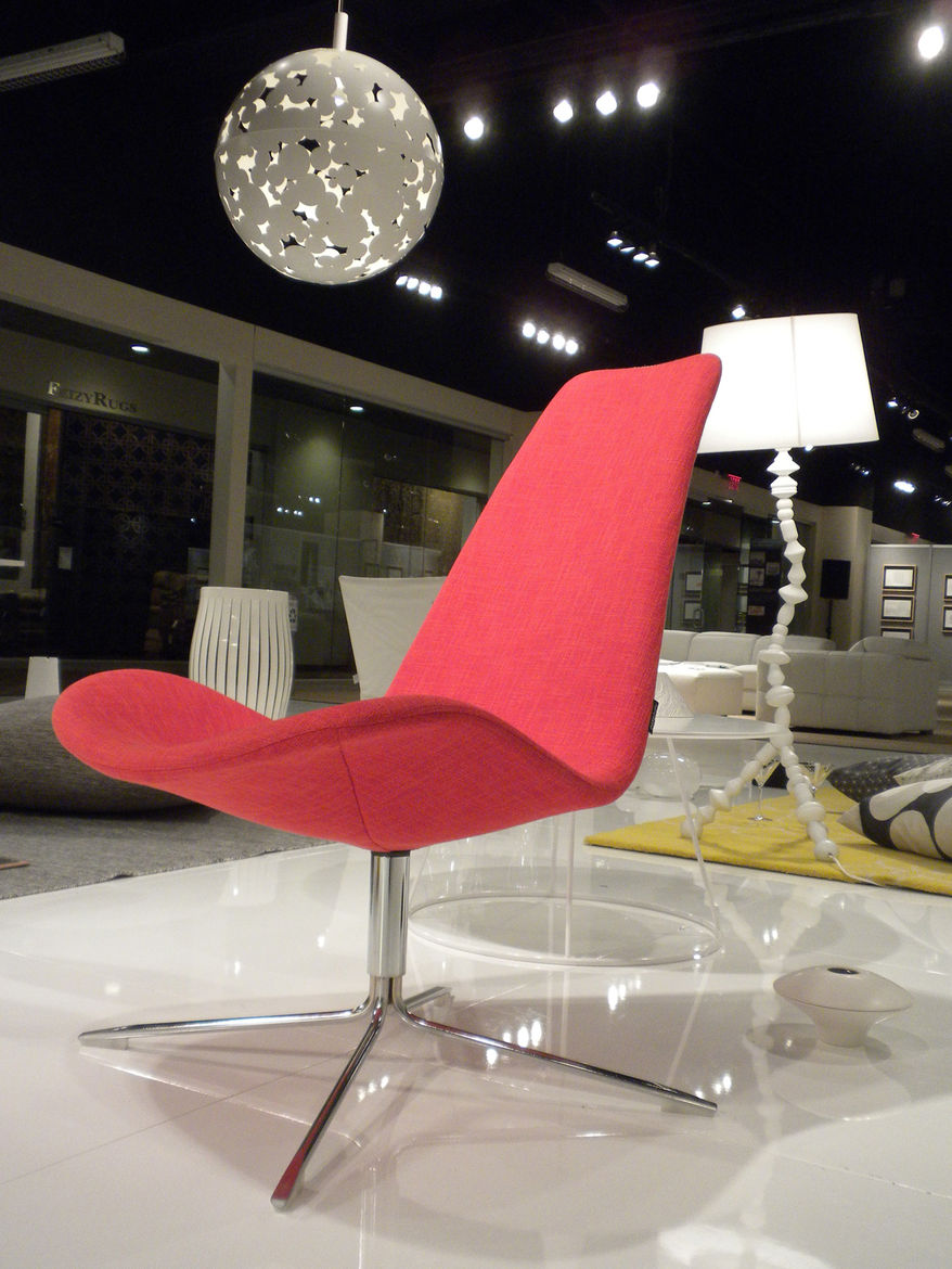 "One of the highlights of the exhibition was seeing the designs of the 17 women featured all together in one place. In this vignette are <a href=""http://www.monicaforster.se/"">Monica Förster</a>'s <a href=""http://www.offecct.se/_eng/produkt.asp?FAM=1&ID=16"