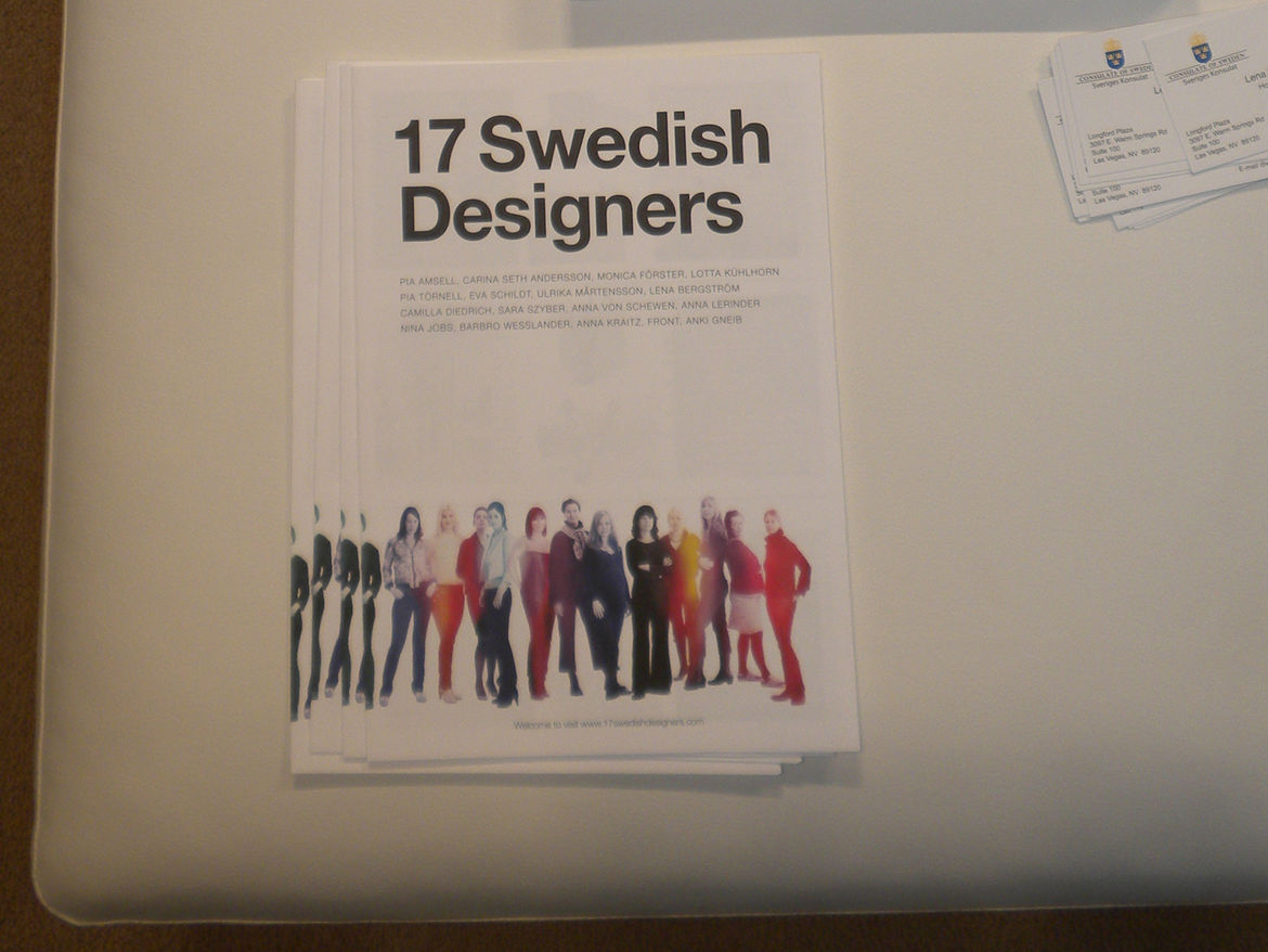 "An excellent show program with information about all 17 designers was available as a take away. You can find more about them and the show at <a href=""http://www.svenskform.se/17swedishdesigners"">svenskform.se/17swedishdesigners</a>. The show travels next"