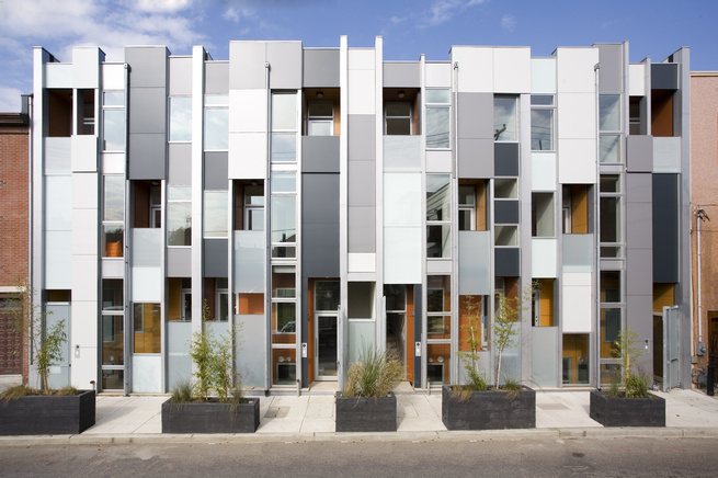 """Project: Thin Flats<p></p>Location: Philadelphia, Pennsylvania<p></p>Developer: Onion Flats<p></p>2010 ULI Award for Excellence: The Americas nomination:""""Certified LEED for Homes Platinum, Thin Flats is an eight-unit infill development in north Philadelp"""