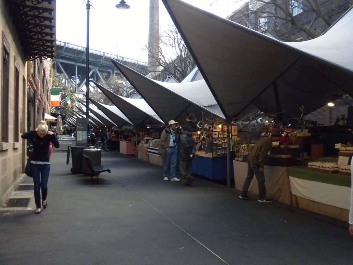 "Back at street level, we stumbled upon the weekend market. Writer and Dwell contributor <a href=""http://www.twitter.com/loudpaper"">Mimi Zeiger</a> was recently in Sydney (and reported a story for an upcoming issue) and suggested a stroll through the Rocks"