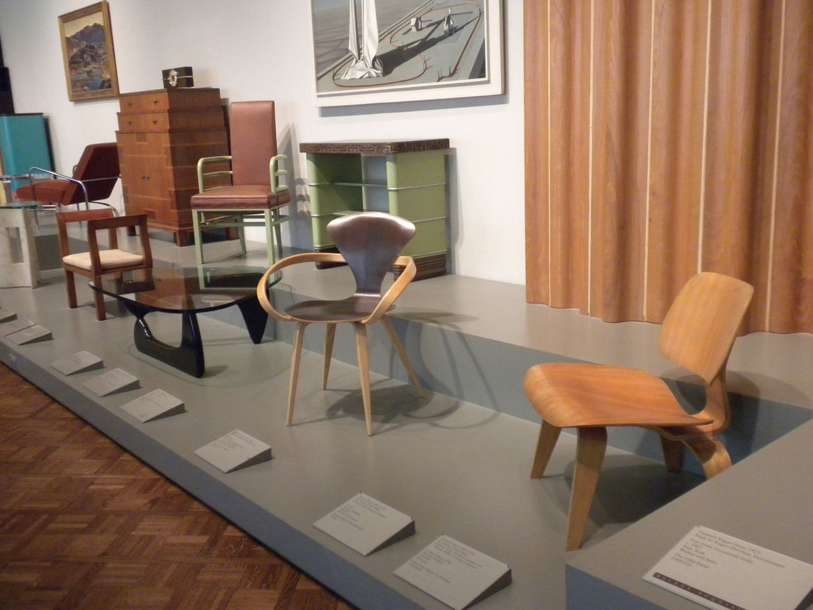 Also on display, the Noguchi Table by Isamu Noguchi and the Cherner Armchair by Norman Cherner.