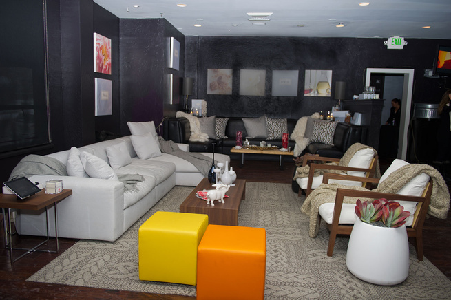 Designs from Poliform and Gandia Blasco helped define the lounge designed by David Mast in association with Brent Jespersen of Jespersen Design in Salt Lake City. The sofa at left is the Dune, the side table is the Yard table, the chairs are Camilla arm c