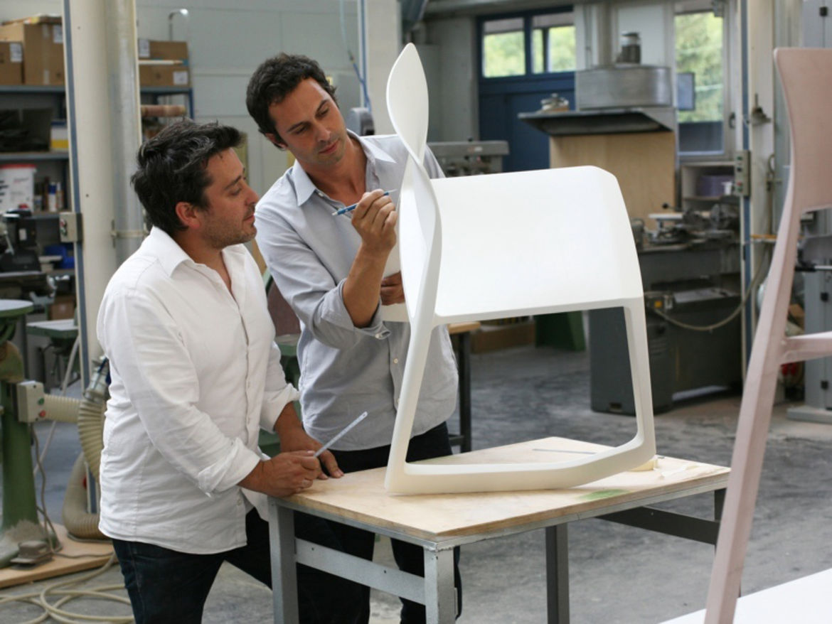 """The Tip Ton is a work chair with a built-in rocker. Watch a video about the seat and its design at <a href=""""http://www.barberosgerby.com/news/"""">barberosgerby.com</a>."""