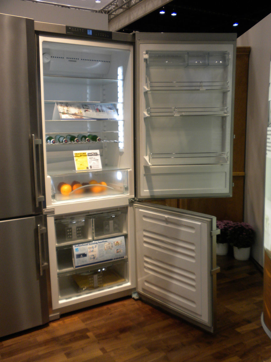 """<a href=""""http://www.liebherr.us/us-lh/en/default_us-lh.asp"""">Liebherr</a>'s claim on the refrigeration market is its ability to keep food fresh longer. The freezer drawers, rather than wire racks, help keep food cold and reduce the loss of cold air wheneve"""