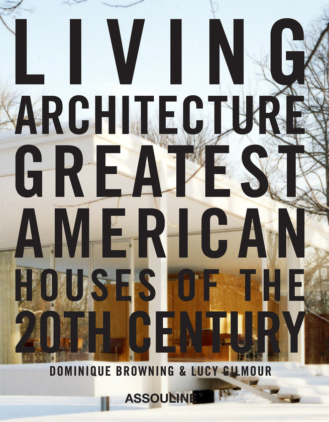 Mies Van der Rohe's Farnsworth House adorns the cover of the book in a photo by Jason Schmidt.