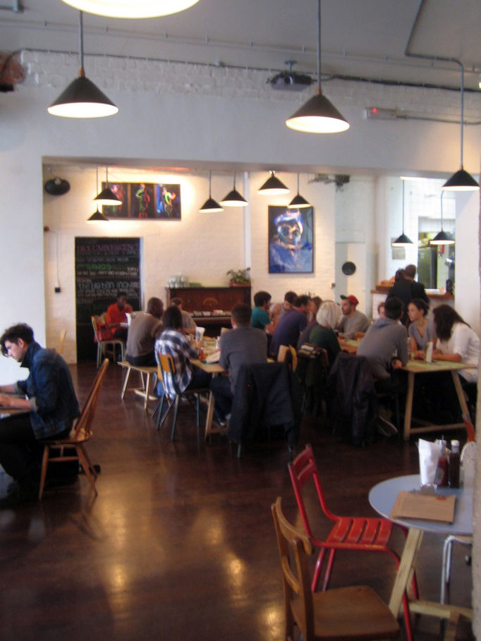 """I stopped into a cafe I'd read about online called <a href=""""http://www.wearetbc.com/"""">The Book Club</a> for lunch. It was charming with its mismatched furniture and artsy vibe, though I feared that in the end it might be a bit twee (and this from a man wh"""
