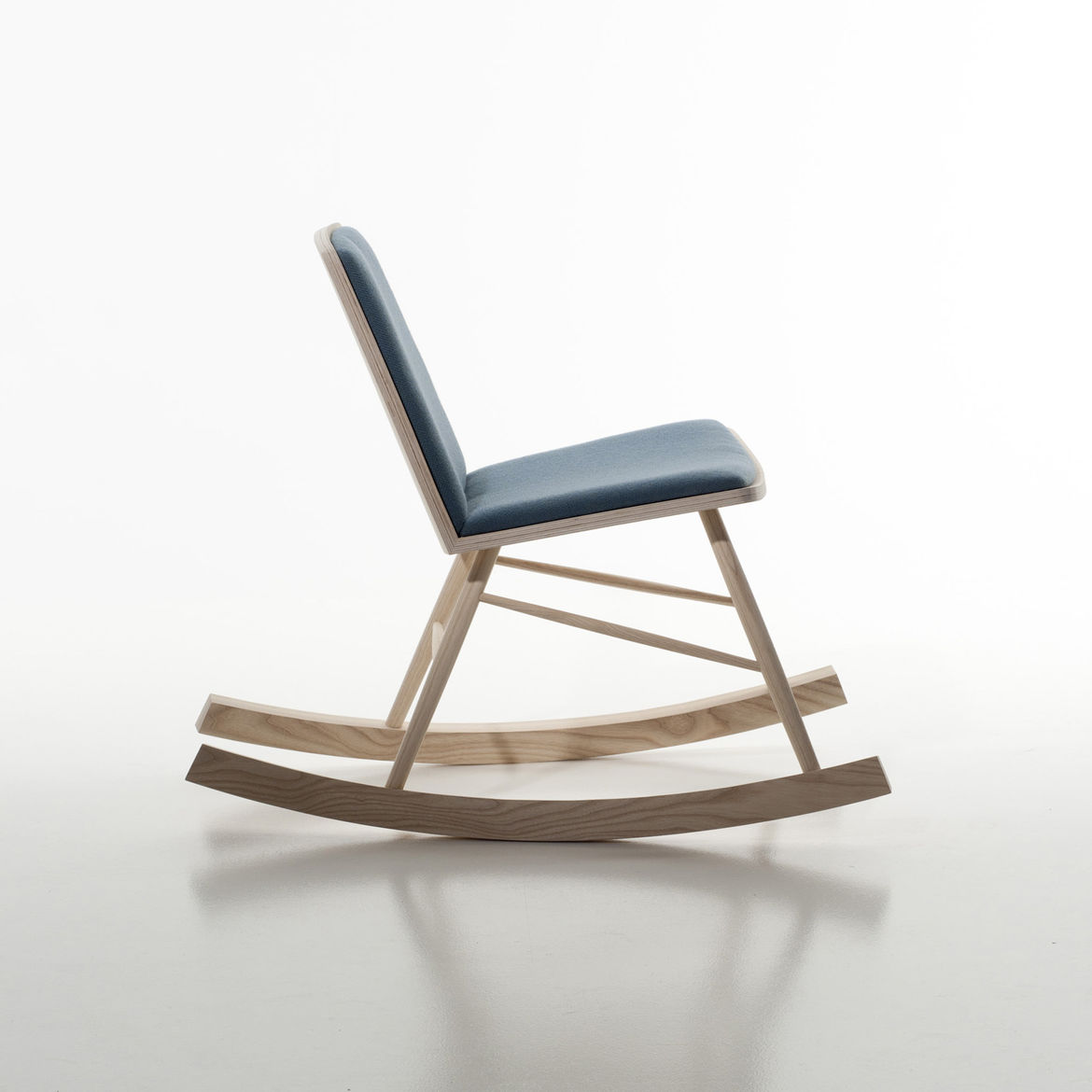 This ash rocker is by Marte Straalberg, a student at the Bergen National Academy of the Arts, and was shown in the Greenhouse student design expo.