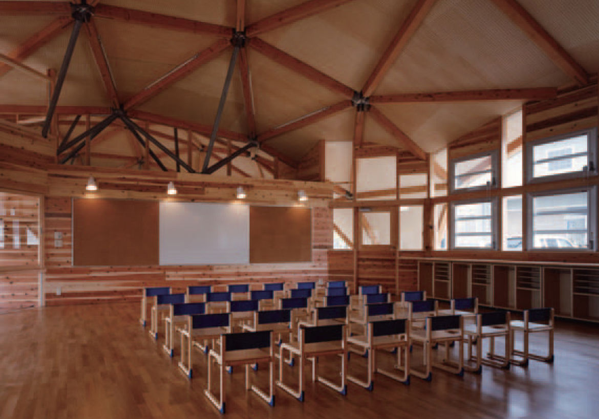 "The dome that forms the pivot point between the two arms of the kindergarten is this auditorium and gathering space. See more playful projects from the book in our <a href=""http://www.dwell.com/slideshows/favorite-play-spaces.html"">first <i>Play! Indoor a"