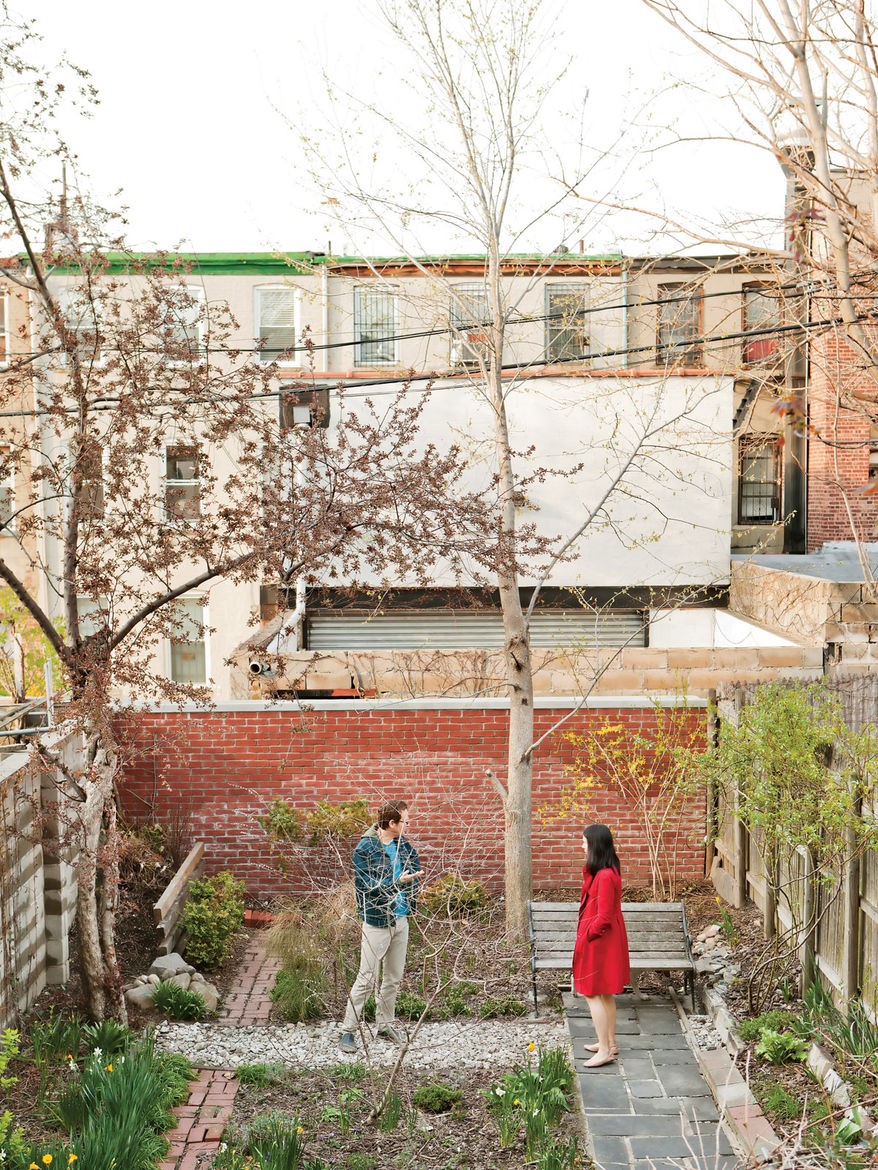 """In Brooklyn, Jeff Sherman used rubble bricks and concrete dug up from the backyard and crushed to create his <a href=""""http://www.dwell.com/slideshows/new-prospects.html"""">green garden</a>. Catch the story in our <a href=""""http://www.dwell.com/magazine/Japan"""