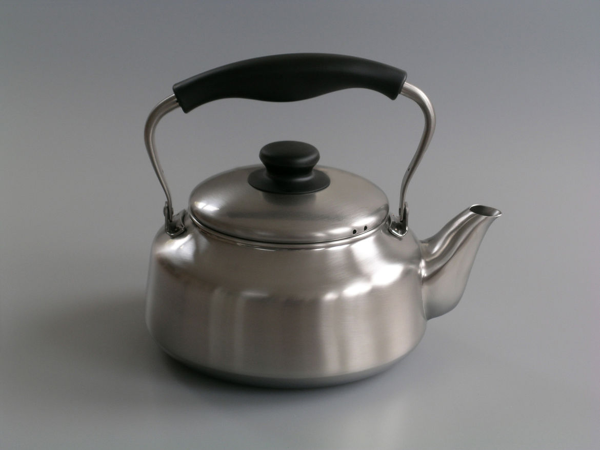 "<b>Sori Yanagi Kettle</b> ""We fell in love with this kettle when visiting Japan. Designed in the 1990's, this kettle has an incredible understated elegance and a timeless look."" Photo courtesy of Labour and Wait."